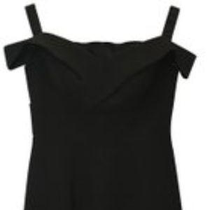 Aidan Mattox Black Off-Shoulder Dress 6  NWT